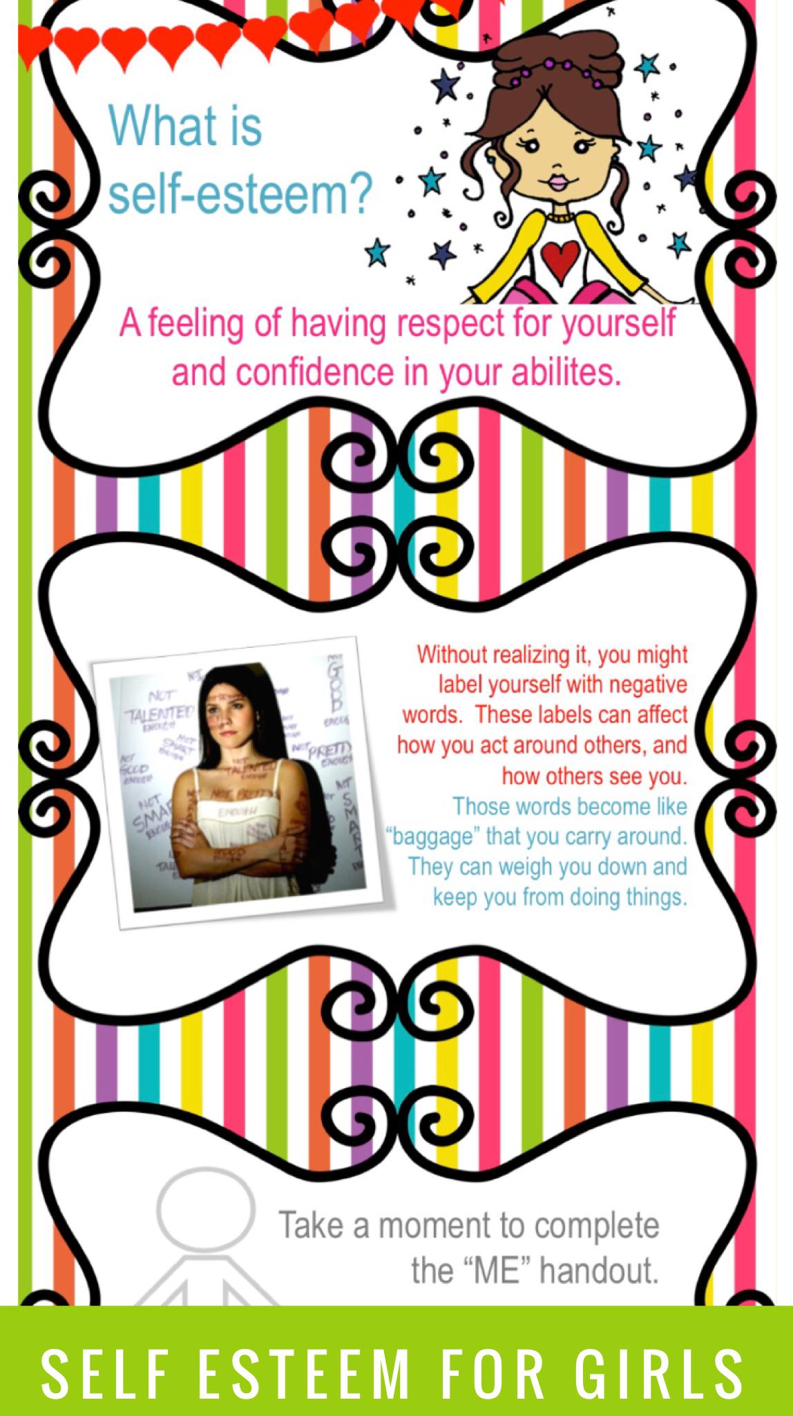 Self Esteem Worksheets And Presentation Self Esteem Activities Self Esteem Worksheets Positive Self Esteem [ 2048 x 1148 Pixel ]