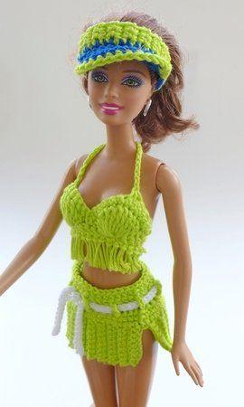 Strandmode für kleine Puppen - 6 Häkelanleitungen | Barbiekläder ...