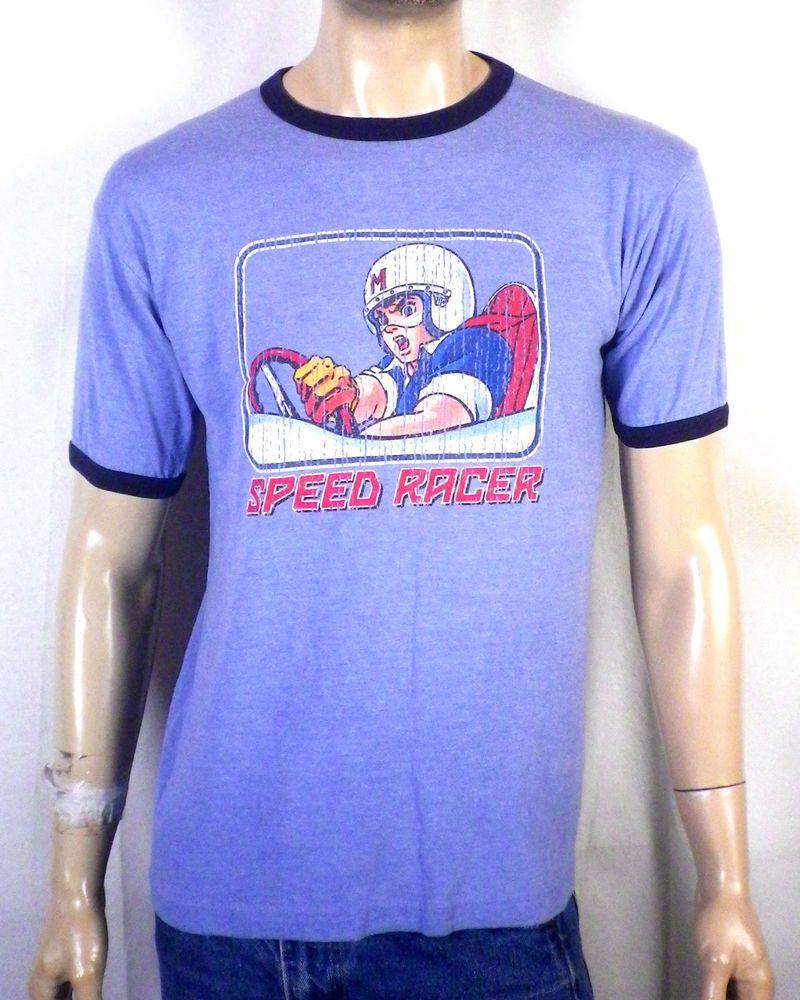 c766a333 vtg Late 90s TNT euc Speed Racer Ringer T-Shirt Anime sz M   Retro T ...