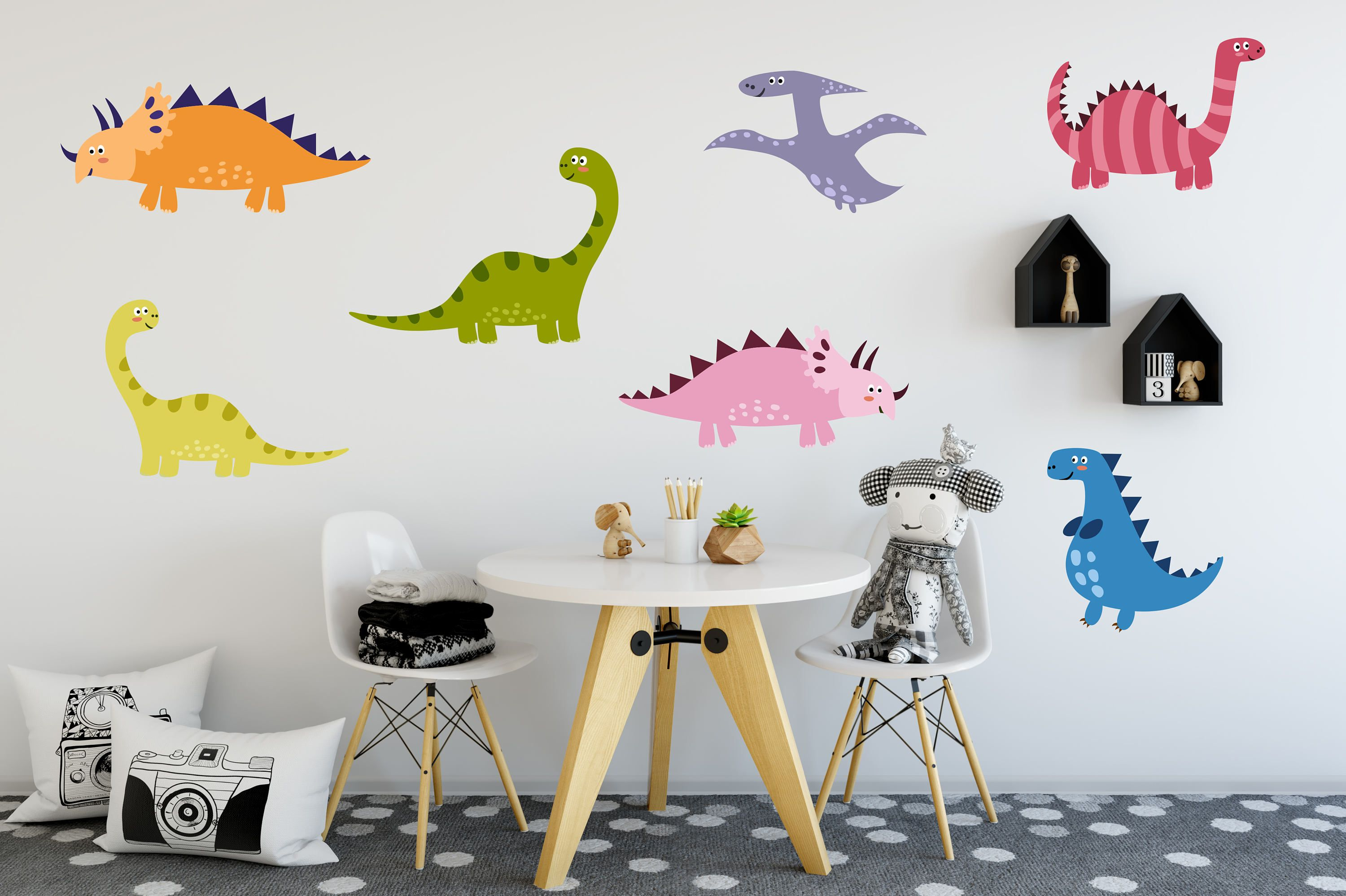 art decor dinosaurs flower bedroom dinosaur products flowers kids sticker corner wall vinyl decal