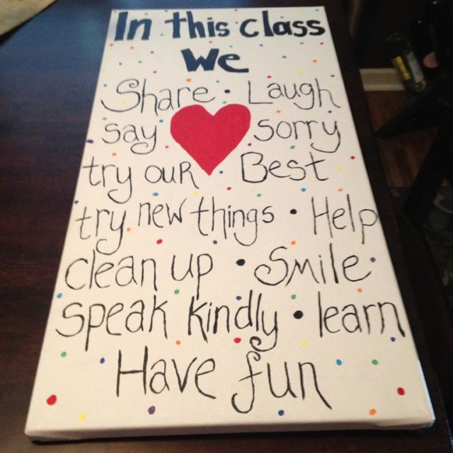 Canvas Painting Of Class Agreement It Is A Beautiful Reminder Of