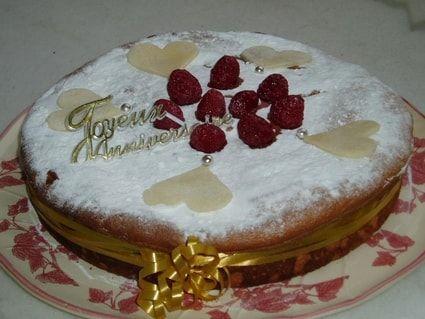 Gâteau framboises-pistaches