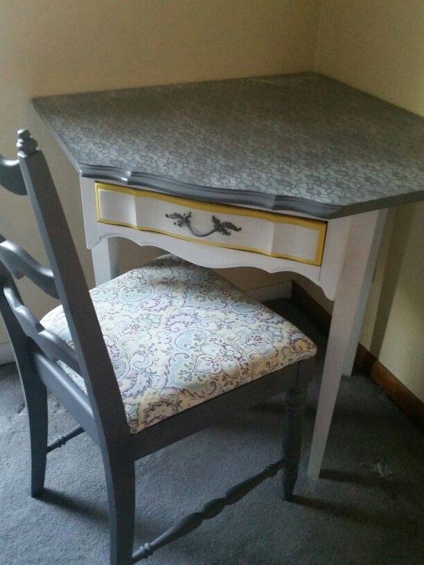 French Provincial Corner Desk Redo Vintage Office Chair Wooden Beach Chairs Redo Furniture