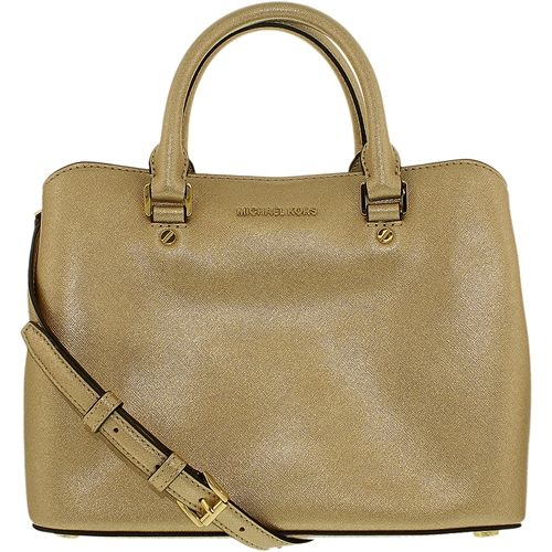 Michael Kors Women S Medium Savannah Saffiano Leather Satchel Top Handle Tote