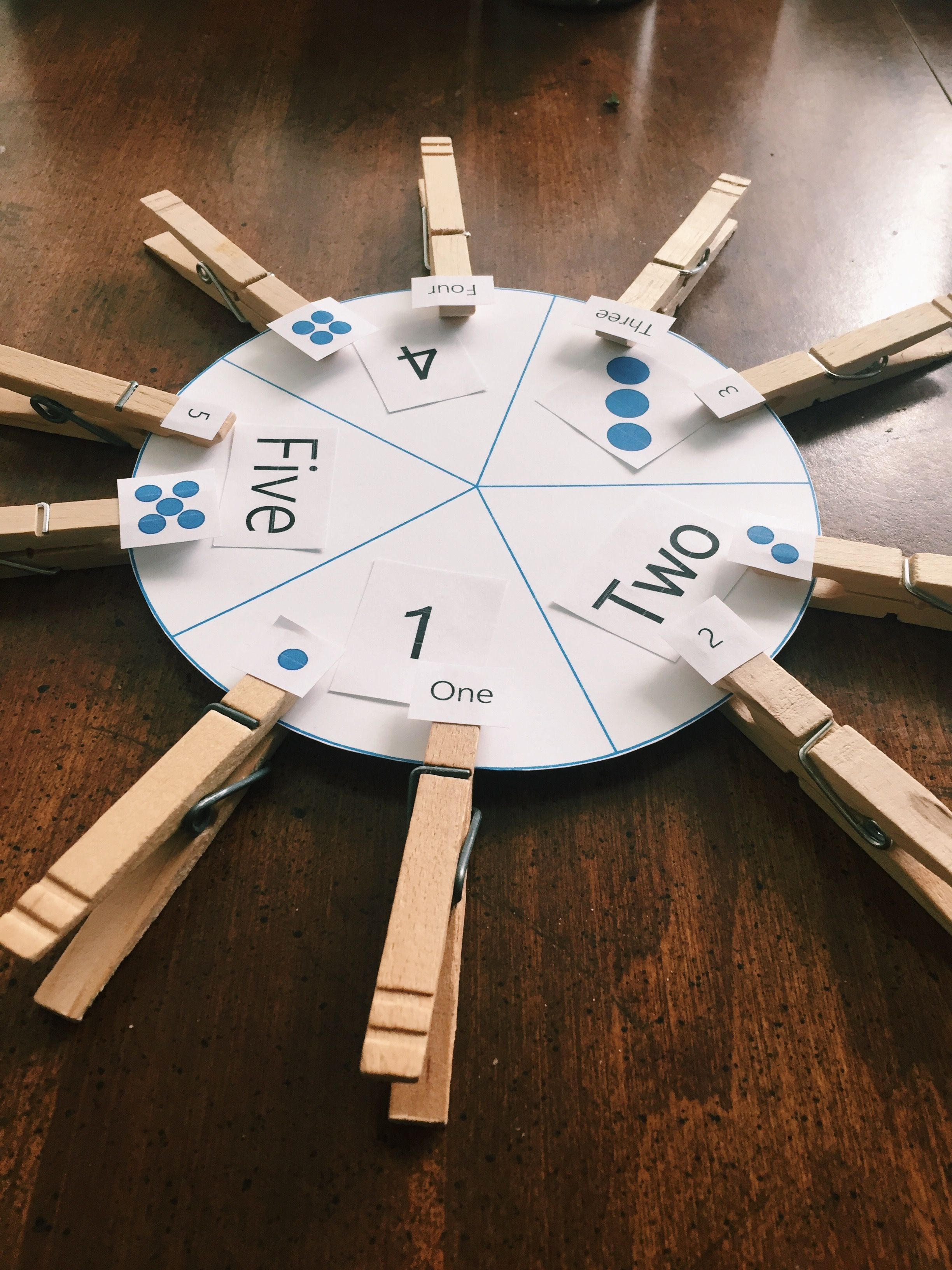 Number Wheel Number Recognition Activity Preschool Math