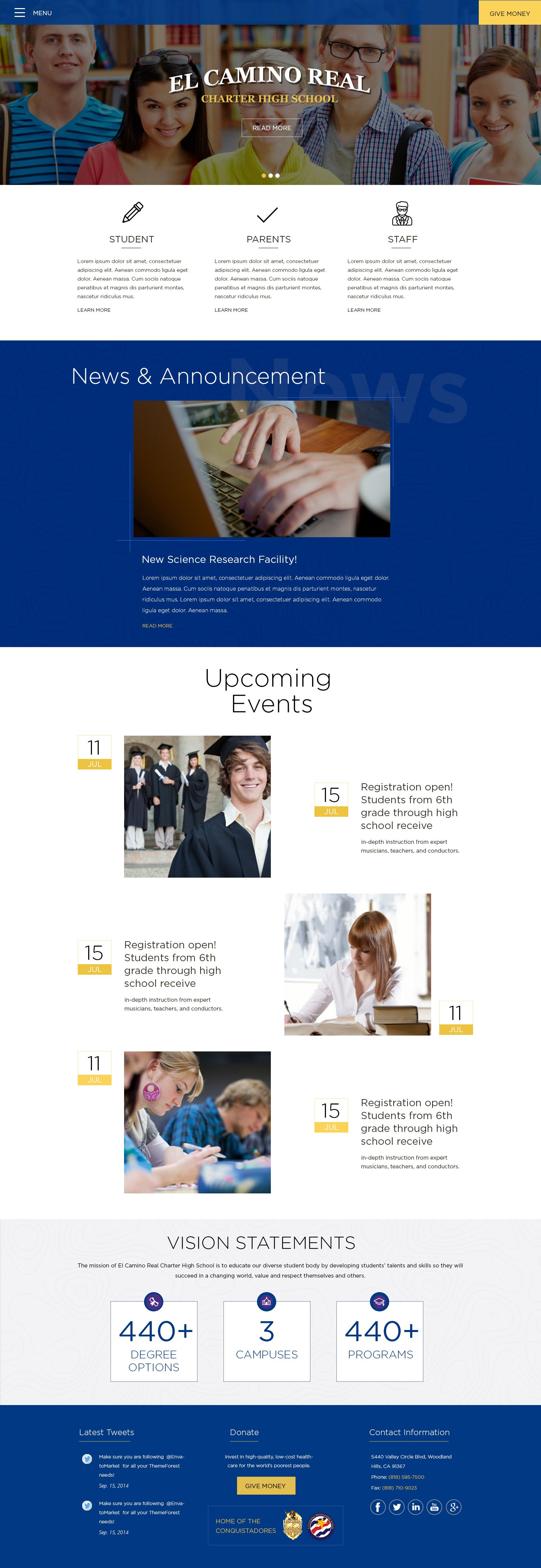school #web #design #mockup #ideas #webdesig #professional #website ...