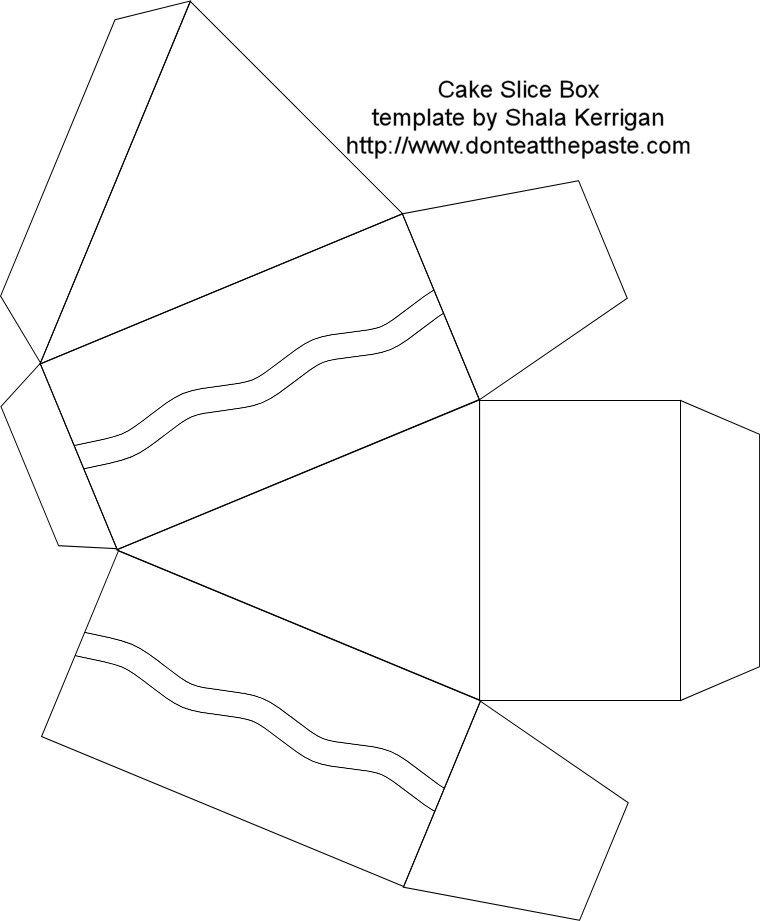 Free Cake Box Slice Template By Shala Kerrigan