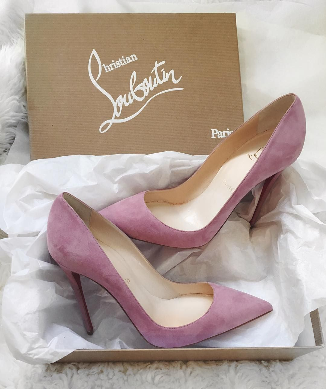 Shoes for light pink dress  Pink Christian Louboutins  shoes  Pinterest  Christian Dusty