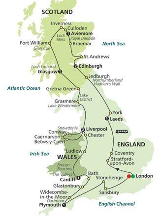 13 Day England Scotland Wales England And Scotland Uk Tours England Travel