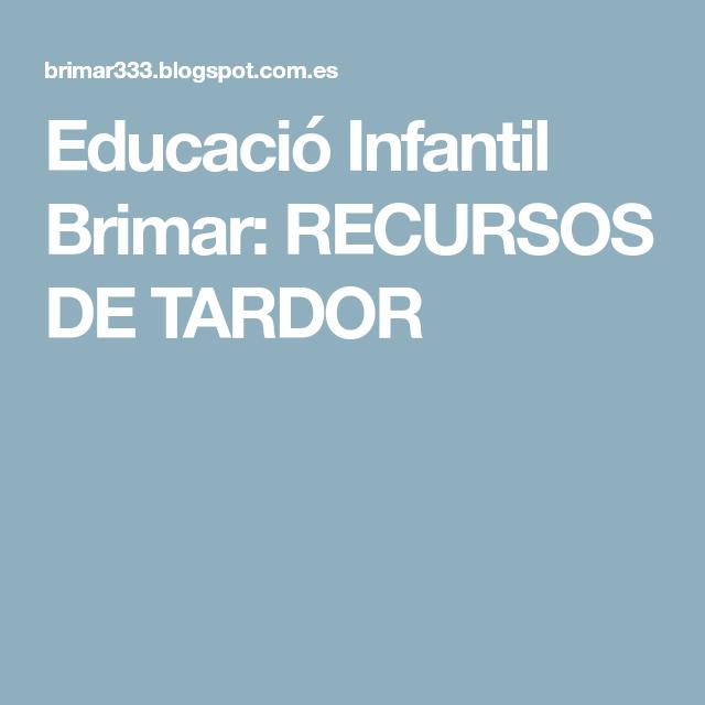 Educació Infantil Brimar: RECURSOS DE TARDOR