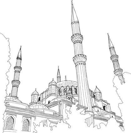 Cami Silueti Camiler Sevimli Karalamalar Resimler