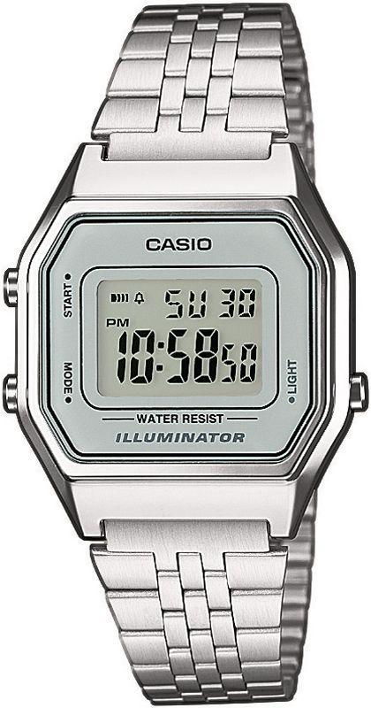 bc3813f92 Casio Classic LA680WEA-7 LA680WEA-7EF, Casio Silver & Grey Retro Digital  Watch for women