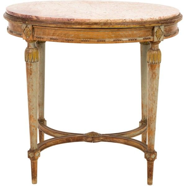 Pre Owned Antique Oval Side Table ($545) ❤ Liked On Polyvore Featuring Home