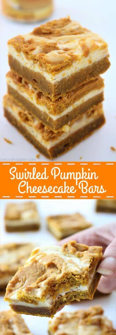 Swirled Pumpkin Cheesecake Bars - CincyShopper