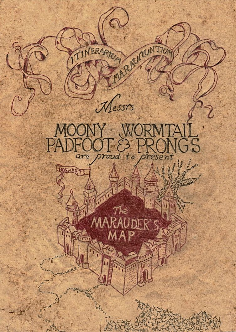 Marauder S Map Marauders Map Mauraders Map Printable