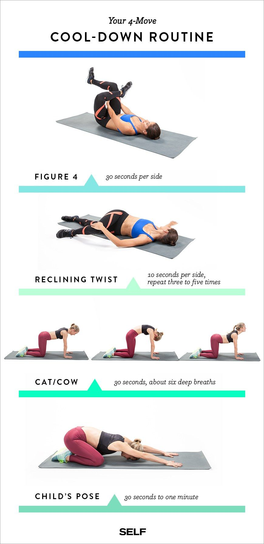 4 Cool Down Stretches For After Your Workout That Feel Ridiculously Good Cool Down Stretches Stretches Before Workout After Workout Stretches