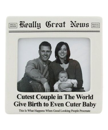 $6.99 marked down from $16! \'Cutest Couple Baby\' Newspaper Photo ...