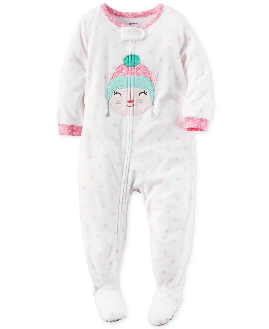 f59c658b4 Carter s 1-Pc. Dot-Print Cat Footed Pajamas