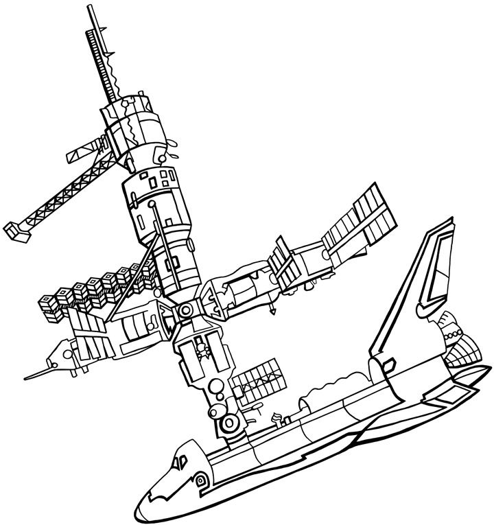 Coloring Pages Space Station 2020 Coloring Pages Space