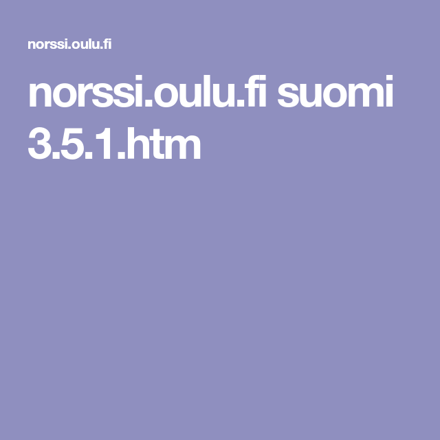 Norssi Oulu