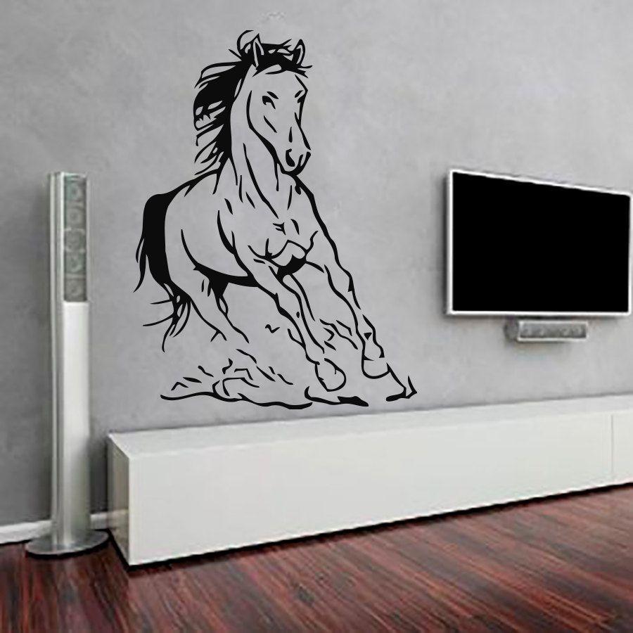 Nieuwe Ontwerp Paard Muursticker Woonkamer Interieur Zelfklevende ...