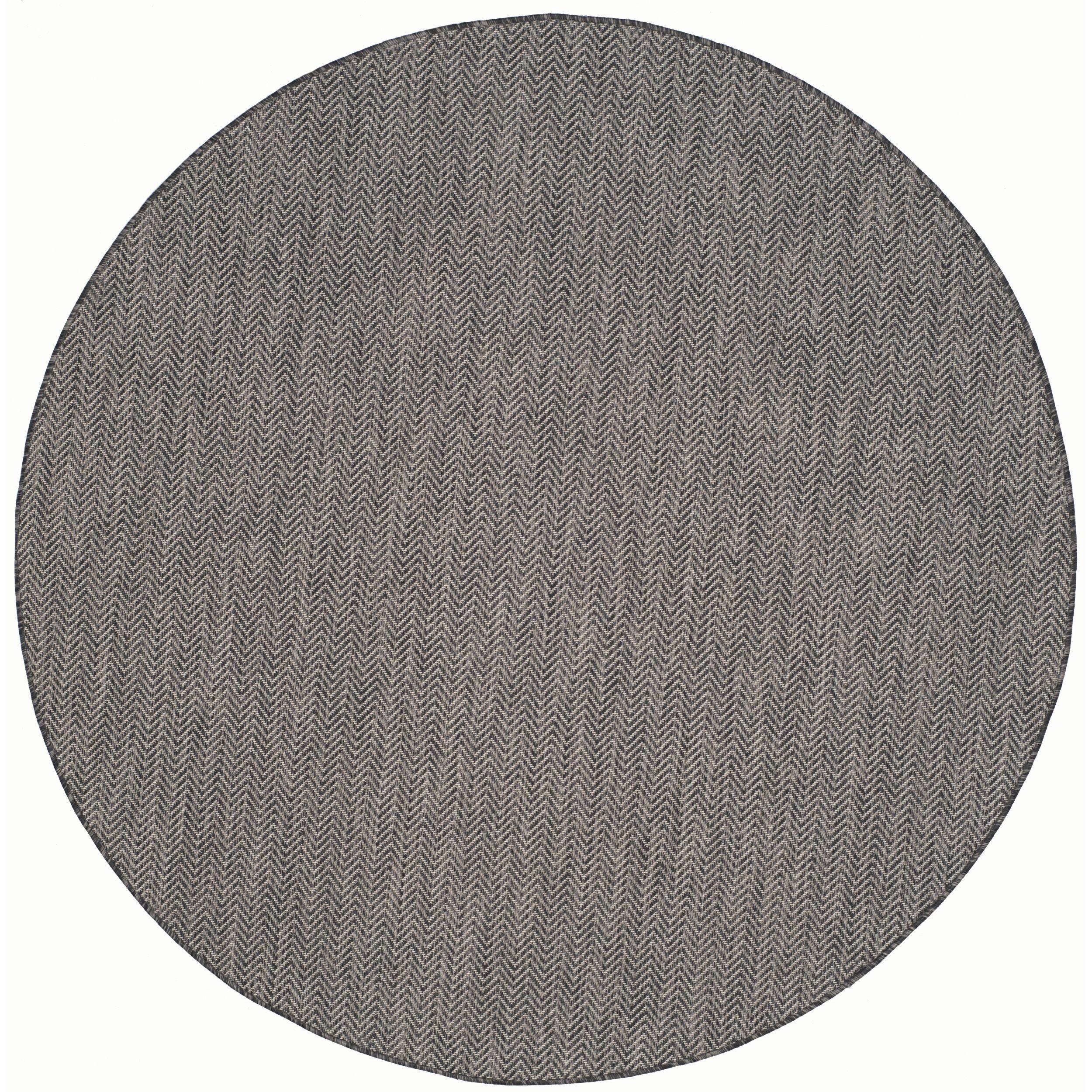 Safavieh indoor outdoor courtyard black beige rug u round