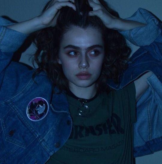 Картинка с тегом «girl, grunge, and blue» | Портрет, Лицо ...