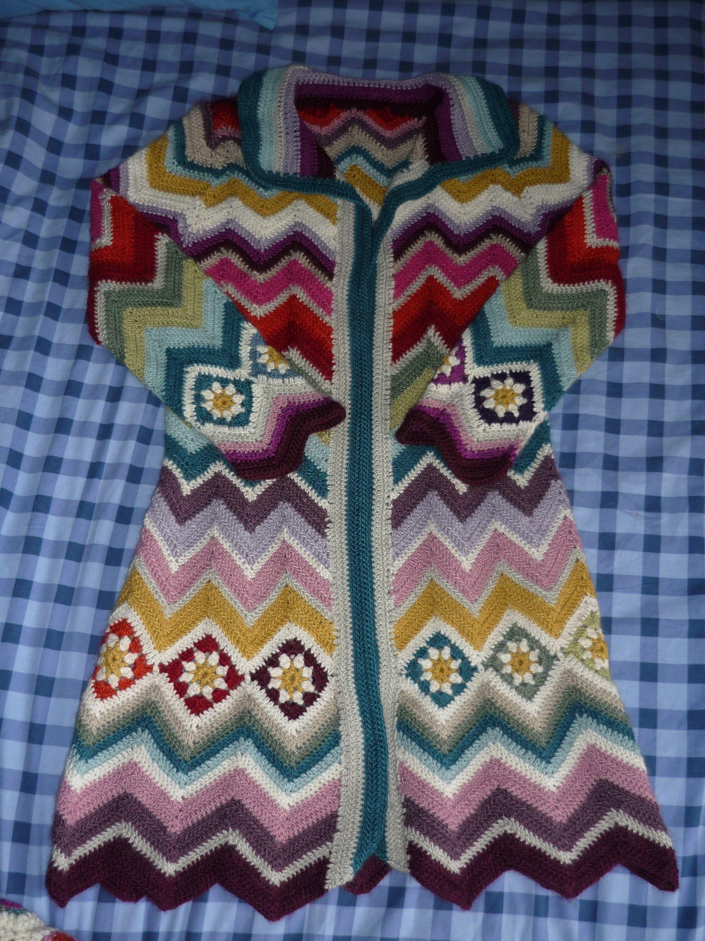 Missoni Coat My Favorite Type Of Long Crocheted Coats Granny Trippy Hippy Crochet Afghan Pattern Kingdom
