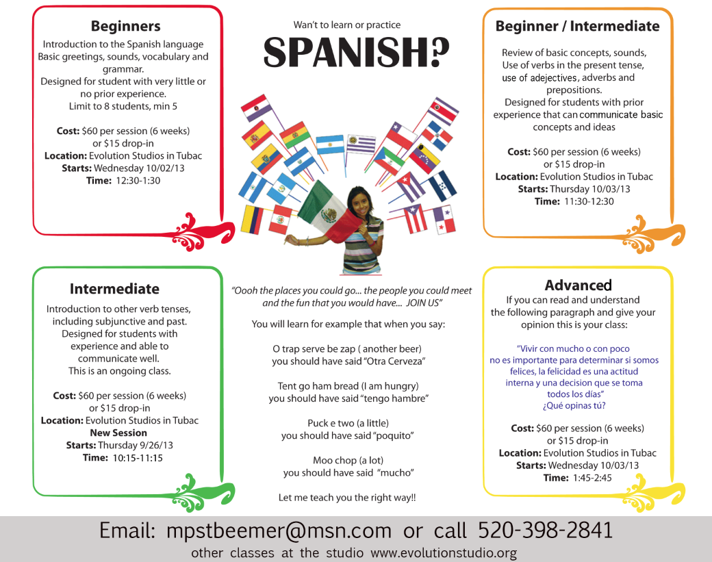 Spanish at evolution studios classes you can join pinterest spanish at evolution studios kristyandbryce Image collections