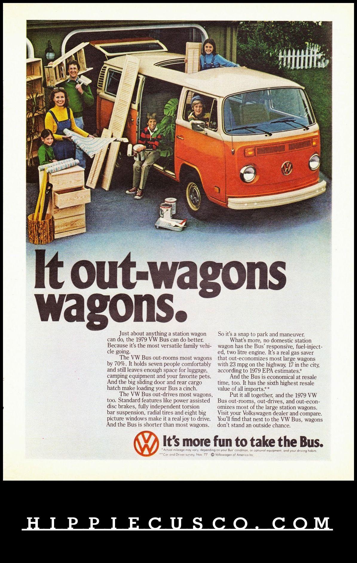 1970 VOLKSWAGEN Bus Microbus Van Versus Station Wagon VINTAGE AD