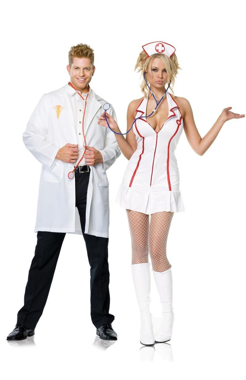 8c5fb8d354152 Doctor and Nurse, Red Hot halloween couples costume | Couples ...