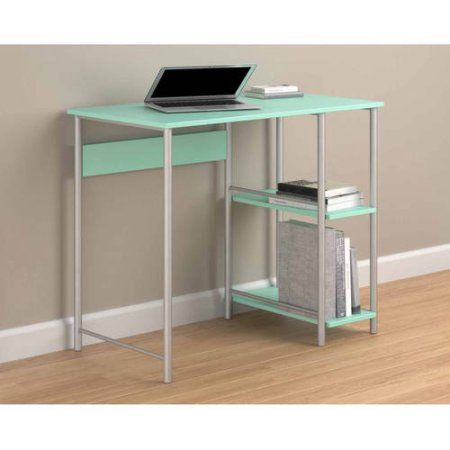 Mainstays Student Desk With Easy Glide Drawer Weathered Oak Walmart Com In 2020 Desk With Drawers Furniture For Small Spaces White Desks