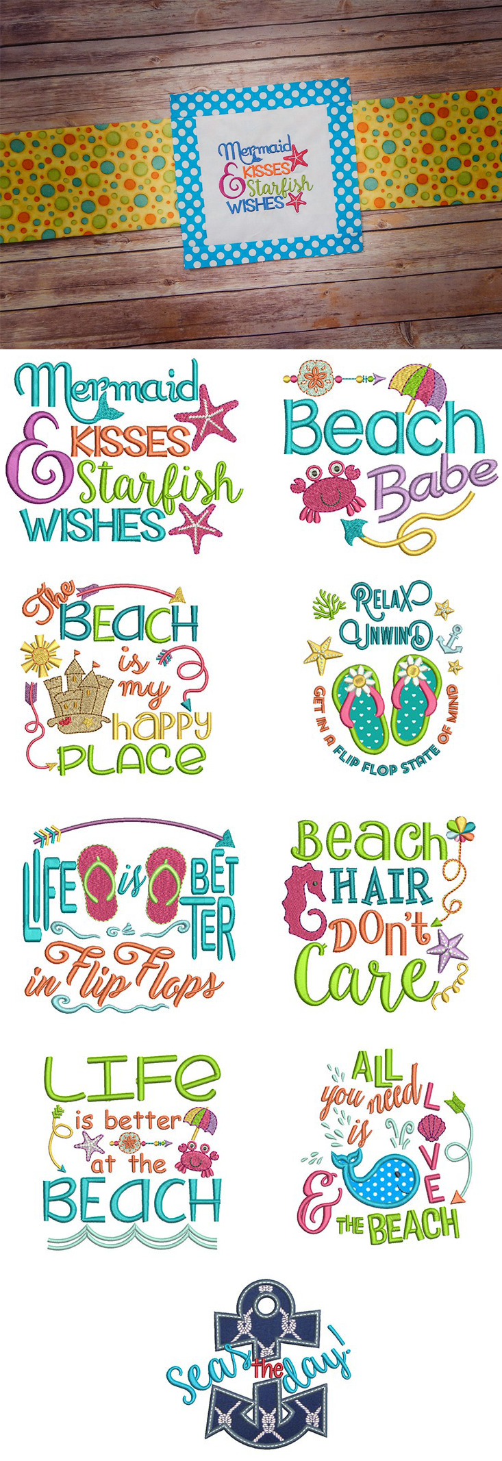 Seaside Sayings Set 1 now available for instant download at ...