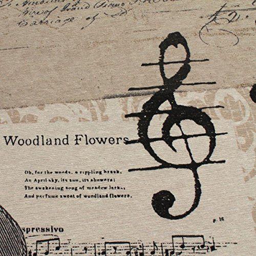 Stoff Baumwolle Polyester Geige Trompete Noten Notenschlüssel klassische Musik … – CMDacademy Lifestyle
