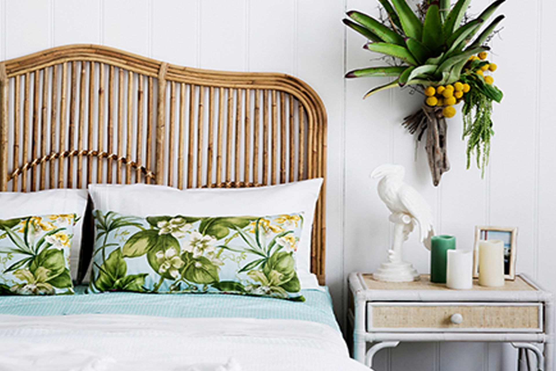 Brookhaven Bedhead Naturally Cane Rattan and Wicker