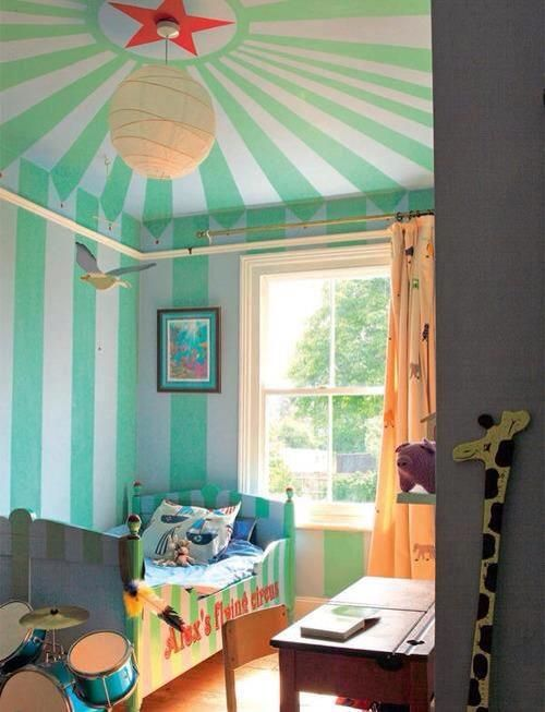 Circus Tent Paint Effect Bedroom Wall Colors Bedroom Design