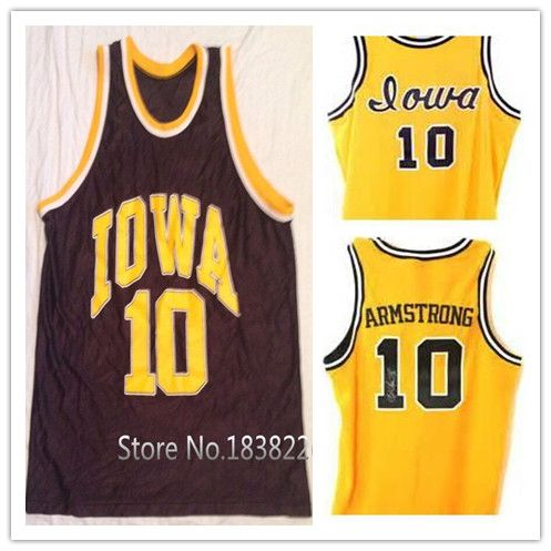 f9813fe87d1  10 B.J. ARMSTRONG Iowa Hawkeyes College Basketball Jersey Gold Black Retro  Stitched Jerseys Customized Any Name and Number on Aliexpress.com