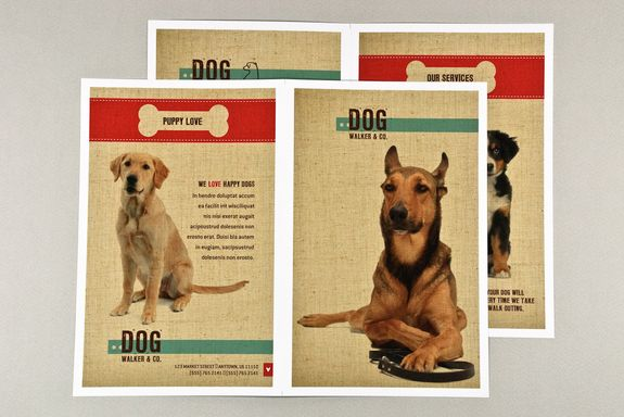 How to create a professional brochure plus 40 superb templates - lost pet flyer template free