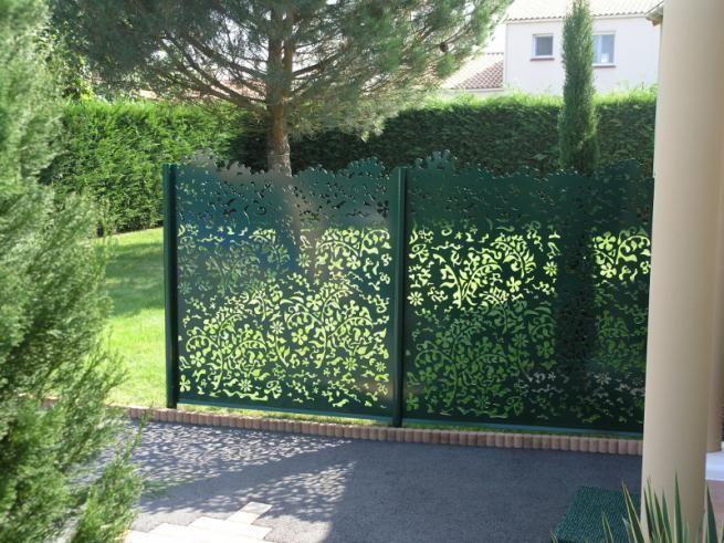 Panneaux rigides en aluminium feuillage portail pinterest 12 for Palissade aluminium prix