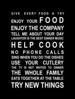 Eat together...