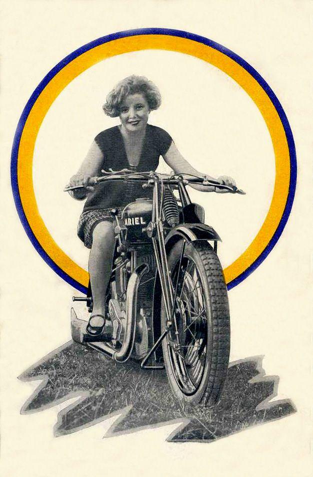 pub des ann es 30 pour les motos ariel les femmes taient vis es b canes pinterest les. Black Bedroom Furniture Sets. Home Design Ideas