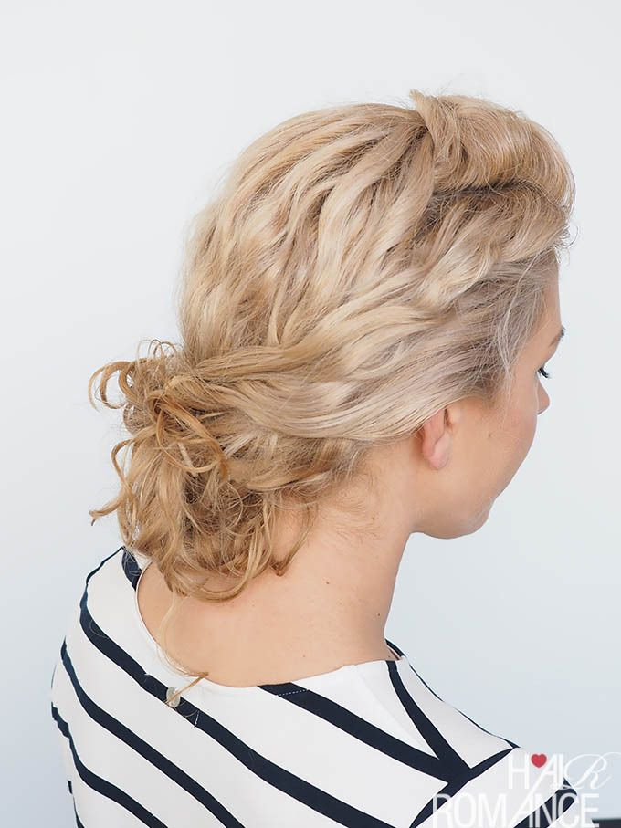 How To Hairstyles Easy Curly Hairstyle Tutorial  Curly Twist Bun Httpwww