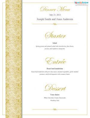 free printable wedding menu templates decoration pinterest
