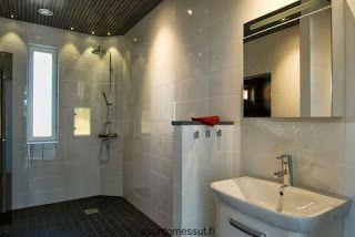 Talo harjulla: Kylpyhuoneen laatat