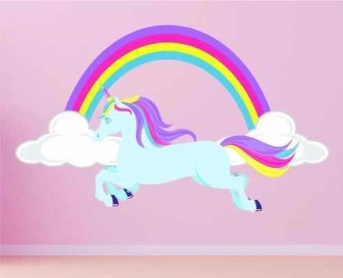 Details About Horse Unicorn Rainbow Girls Pretty Clouds