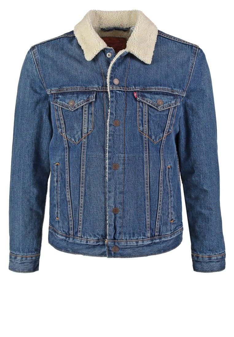 Sherpa jeansjacke blue denim