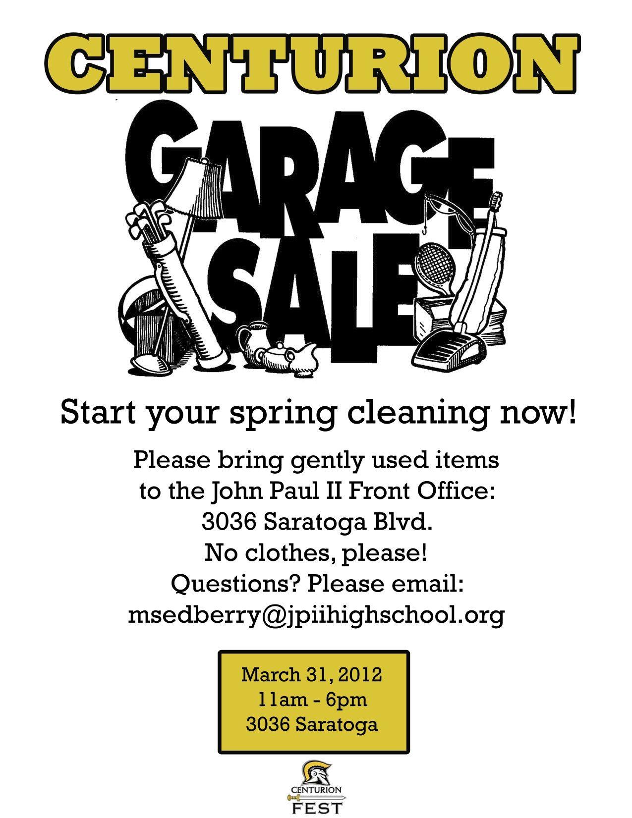 yard sale flyer free template