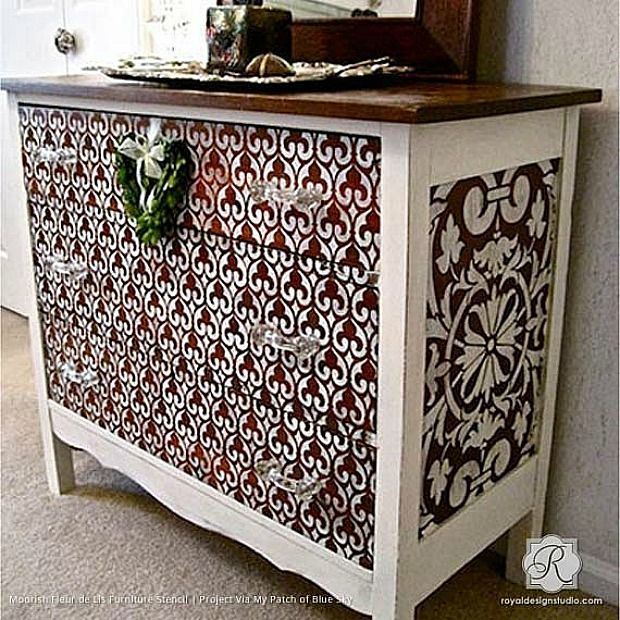 Delicieux 13 Easy DIY Ideas With Moroccan Furniture Stencils From Royal Design Studio