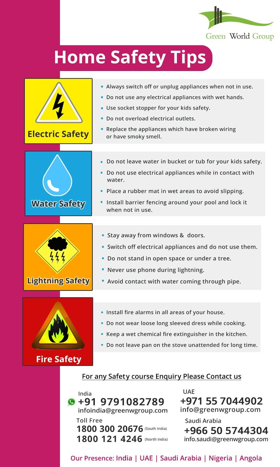 Here are some ways you can put these general home safety