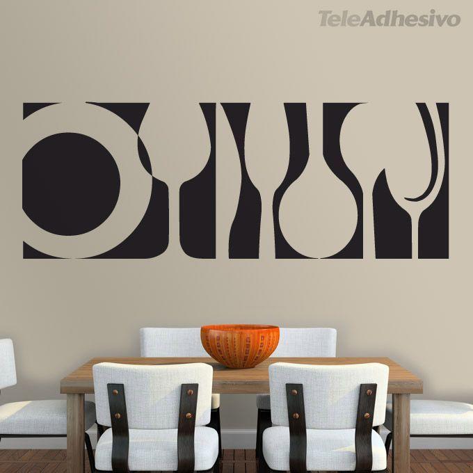 Resultado de imagen para vinilos para restaurantes for Vinilos pared comedor